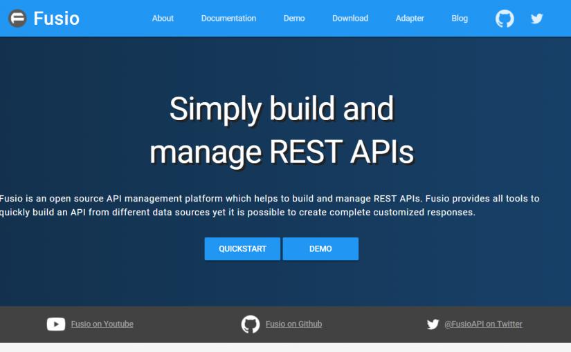 Fusio – Bina REST API Untuk Aplikasi Web Dengan Mudah Dan Pantas